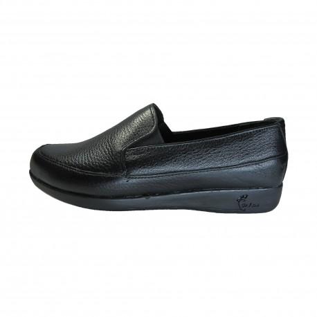 کفش زنانه دکتر فام کد 123 چرم مشکی