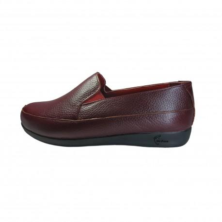 کفش زنانه دکتر فام کد 123 چرم زرشکی