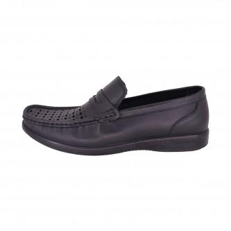 کفش مردانه دکتر فام کد 605 سبیل دار چرم مشکی