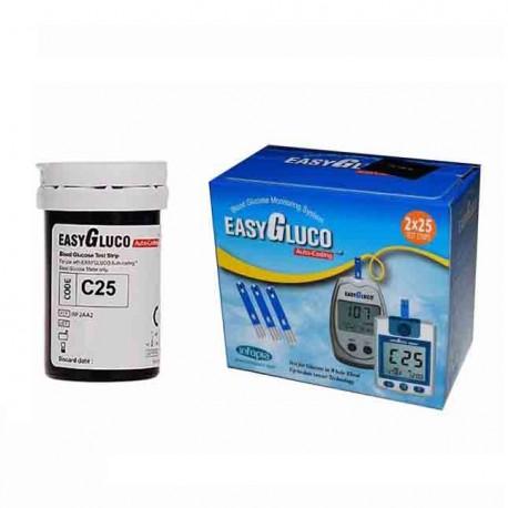 نوار تست قند خون اینفوپیا مدل EasyGluco دو بسته 50 عددی